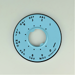 Western Electric 500/554 Dial Bezel - Aqua Blue