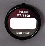 Western Electric Dial Card Kit - Please Wait - Black