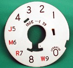 Western Electric 150e Party Line Dial Plate