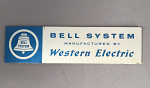 Bell Systems - Western Electric Badge