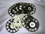 Number 6 Aluminum Fingerwheel - lot of 10