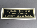 Chicago Telephone Supply Company Water Decal - Black