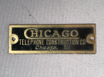 Chicago Telephone Badge