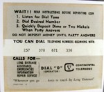 Payphone Instruction Card - Grey card