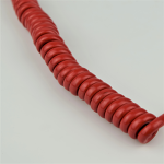 Red - Hardwired Curly - 4 Conductor