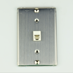 Wall Mountable Modular Wall Jack - Metal