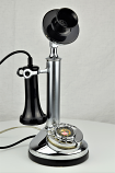 Chrome Candlestick Telephone