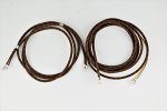 Automatic Electric - Handset and Line Cord - Brown with Black Trace