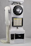 Automatic Electric - 3 Slot Payphone - White