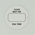 Western Electric Dial Card - White - Please Wait