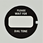 Western Electric Dial Card - Black - Please Wait