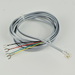 Grey Line Cord - Spade to Mod - 4 Conductor - Flat