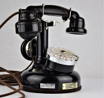 French Cradle Telephone/Mother in law receiver - Nickel