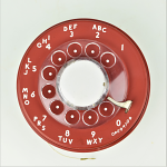 Western Electric - 500 Dial - Cherry Red