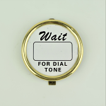 Western Electric Dial Card Kit - Brass