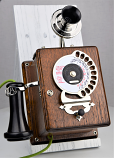 Strowger Dial Wood Wall Phone