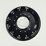 Western Electric 500 Series Dial Faceplate - Black