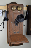 Western Chicago Wood Wall Phone
