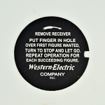 Western Electric Dial Card - Instructions