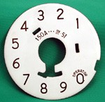 Western Electric 150a Numeric Dial Plate