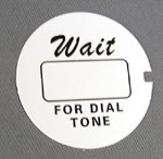 Western Electric Dial Card - White - Script - Lot of 10