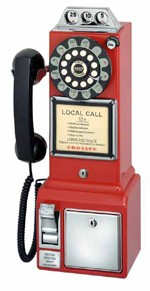 3 Slot Payphone - Red