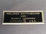 Kellogg Switchboard and Supply Company Water Decal - Black