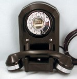 Type 50 Wall Phone-Chrome Trim