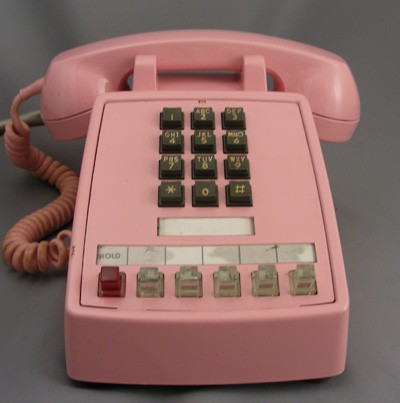 northern electric 2564 multiline 1a2 key telephone station in pink ...