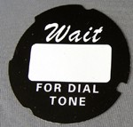 Automatic Electric Dial Card - Script - Black