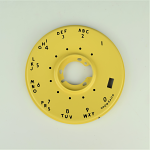 Western Electric 500/554 Dial Bezel - Pastel Yellow