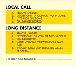 Payphone Instruction Card - Yellow Card