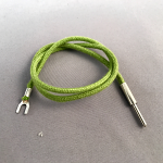 "Cord, Transmitter, Cloth, Green, Pin-Spade, 14"", for WE#10 DeskStand"
