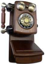 Country Wood Phone - Walnut