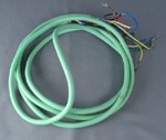 Mint Green Line Cord - Spade to Spade - 5 Conductor - Round