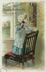 Vintage Telephone Postcard, By Household Sewing Machine Co.