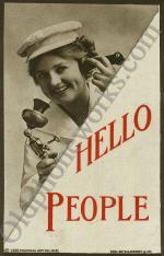 "Vintage Candlestick Postcard ""Hello People"""