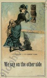 """Vintage Telephone Postcard """"We say on the other side"""""""