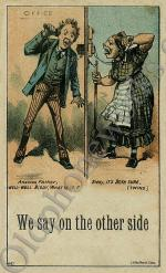 "Vintage Telephone Postcard ""We say on the other side"""
