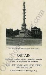 Columbus Monument Postcard
