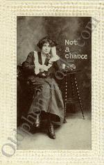 "Vintage Telephone Postcard ""Not a chance"""