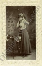 "Vintage Telephone Postcard ""I'm not that kind of girl"""