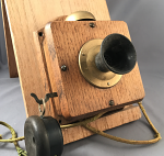 Mini Wood Wall Phone / Intercom - As Is