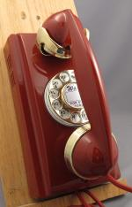 354 - Red - Brass Trim