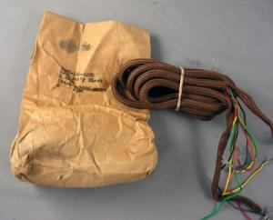 Cord, Subset, Cloth, 4 Conductor, Brown - NOS OEM