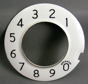 Western Electric Dial Overlay Numeric for No 4 Dials